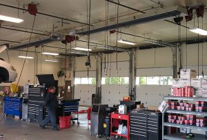 Infrared Heater Car Repair Garage